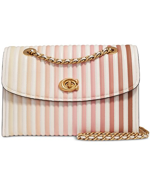 COACH Parker Shoulder Bag in Ombre Quilted Leather
