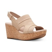 Clarks Collection Women's Annadel Ivory Wedge Sandals Deals