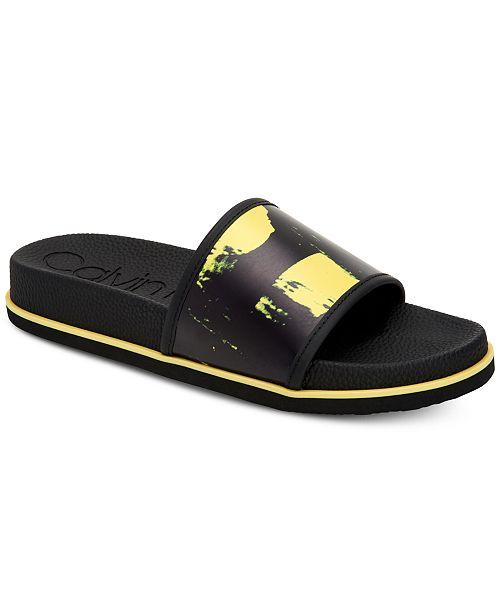 2ceb2b55a0f Calvin Klein Men s Mackee Slide Sandals   Reviews - All Men s Shoes ...