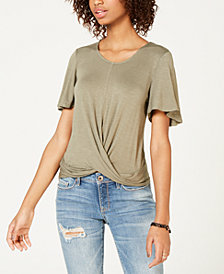 American Rag Juniors' Twist-Front Top, Created for Macy's