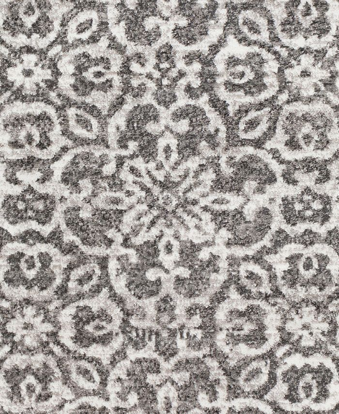 """Abbie & Allie Rugs - MNC-2305 Charcoal 18"""" Square Swatch"""