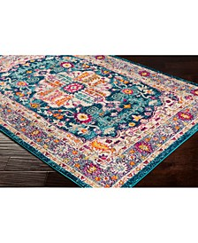 """Morocco MRC-2302 Teal 18"""" Area Rug Swatch"""