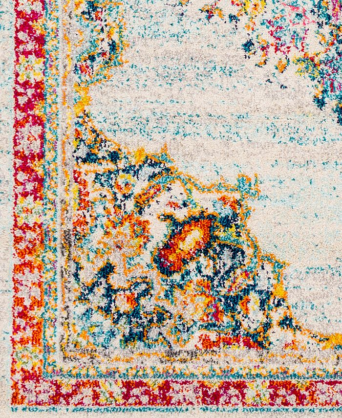 """Abbie & Allie Rugs - Morocco MRC-2324 Teal 18"""" Square Swatch"""