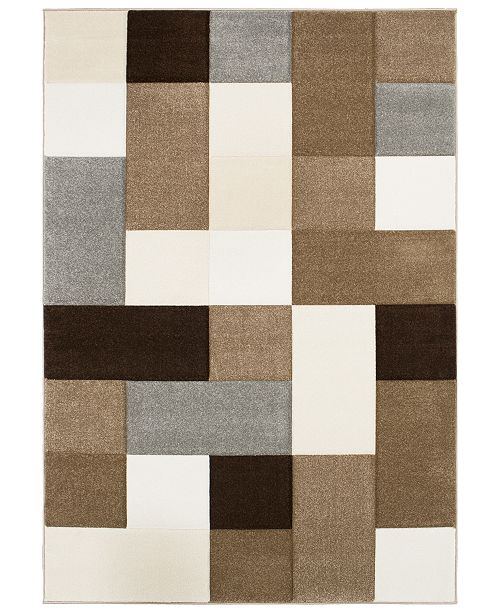 "Surya Santa Monica SAC-2308 Dark Brown 7'10"" x 10'3"" Area Rug"