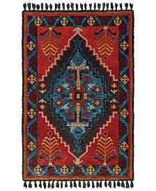 """Oriental Weavers Madison 61403 Rust/Blue 3'6"""" x 5'6"""" Area Rug"""