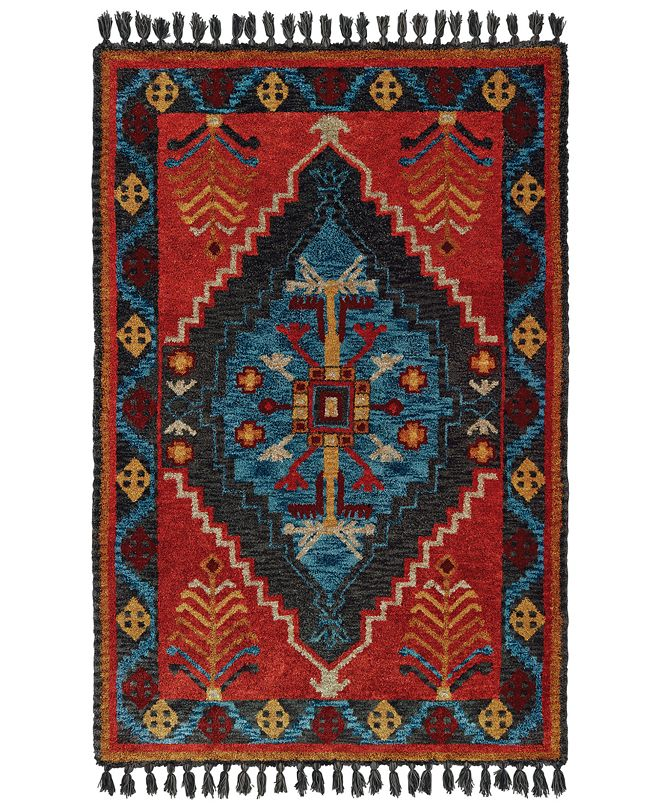 Oriental Weavers Madison 61403 Rust/Blue 10' x 13' Area Rug