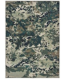 Montage 090LE Blue/Gray 2' x 3' Area Rug