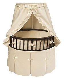 Elite Oval Baby Bassinet With Canopy