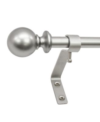 Montevilla 1/2-Inch Ball Telescoping Cafe Curtain Rod Set, 48 to 86-Inch, White