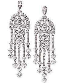 Eliot Danori Silver-Tone Crystal Chandelier Earrings, Created for Macy's