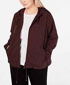 Eileen Fisher Plus Size Hooded Zip Jacket