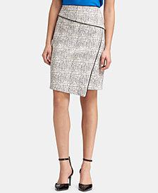 DKNY Printed Asymmetrical Pencil Skirt, Created for Macy's