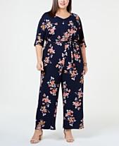 3a8c05d7fa Love Squared Trendy Plus Size Floral Jumpsuit