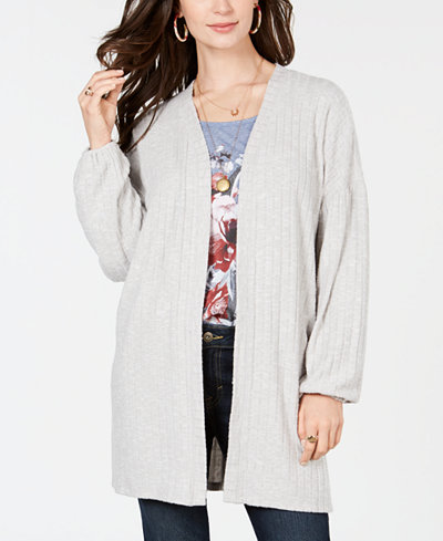 Style & Co Bishop-Sleeve Open-Front Cardigan, Created for Macy's