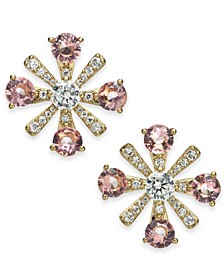 Crystal Flower Stud Earrings, Created for Macy's