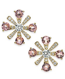 Eliot Danori Crystal Flower Stud Earrings, Created for Macy's