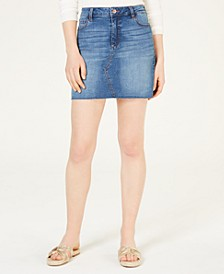 Juniors' Denim Mini Skirt
