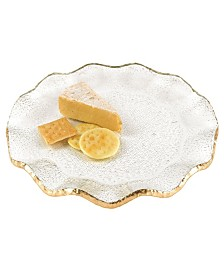 "Gold Edge 13"" Platter- Charger"
