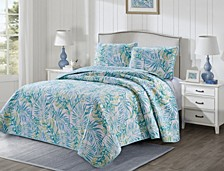 Tropical Vibes 3 Piece Quilt Set Full/Queen