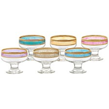 Lorren Home Trends Pedastal Bowls Melania Collection -Set of 6