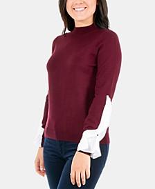 Petites Ruffle-Sleeve Sweater