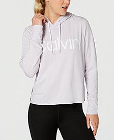Calvin Klein Performance Logo Varsity-Stripe Hoodie