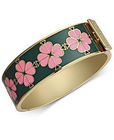 Kate Spade New York  Gold-Tone Enamel Flower Bangle Bracelet