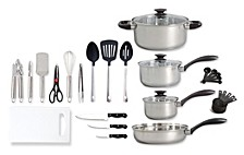 Home 30-piece Total Kitchen Stainless Steel Cookware Combination Set