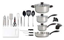Oster Home 30-piece Total Kitchen Stainless Steel Cookware Combination Set