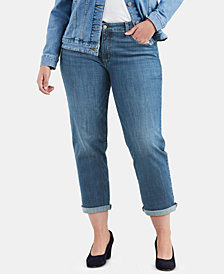 Levi's® Plus Size Cuffed Boyfriend Jeans