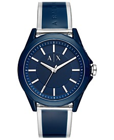 Men's Drexler Blue Silicone Strap Watch 44mm
