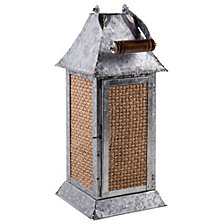 Home Essentials Large Galvanized Lantern