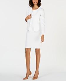 Le Suit Flyaway Jacquard Jacket & Dress Suit