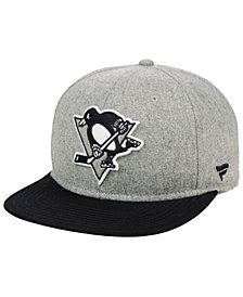 Authentic NHL Headwear Pittsburgh Penguins Heavy Heather Emblem Snapback Cap