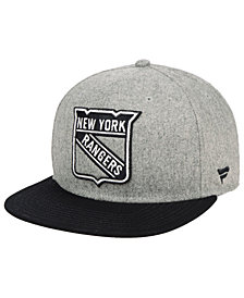 Authentic NHL Headwear New York Rangers Heavy Heather Emblem Snapback Cap