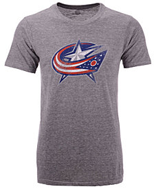 Majestic Men's Columbus Blue Jackets Tri-Blend Team Logo T-Shirt