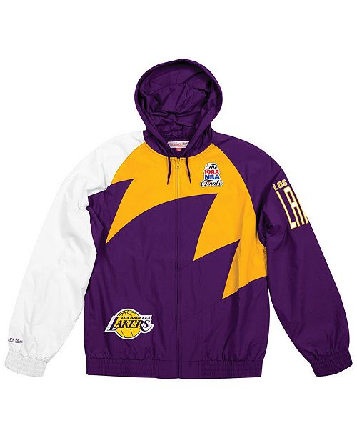 498b9d7b6c667 Mitchell & Ness Men's Los Angeles Lakers Shark Tooth Jacket ...