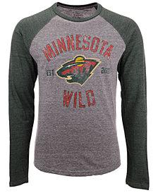 Majestic Men's Minnesota Wild Heritage Long Sleeve Raglan T-shirt
