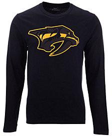 Authentic NHL Apparel Men's Nashville Predators Blackout Long Sleeve T-Shirt