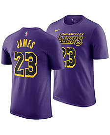 Nike LeBron James Los Angeles Lakers City Edition T-Shirt, Big Boys (8-20)