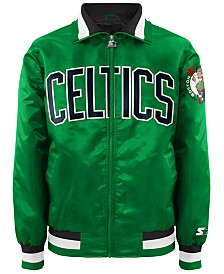 G-III Sports Men's Boston Celtics Starter Captain II Satin Jacket