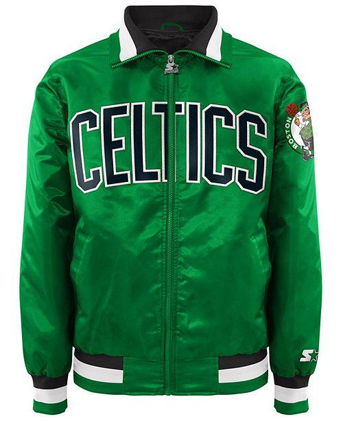 G-III Sports Men's Boston Celtics Starter Captain II Satin Jacket
