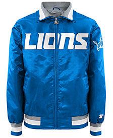 G-III Sports Men's Detroit Lions Starter Captain II Satin Jacket