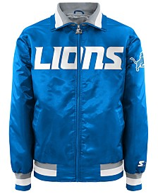 G-III Sports Men's Detroit Lions Starter Captain II Satin Jacket