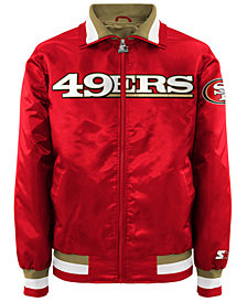 G-III Sports Men's San Francisco 49ers Starter Captain II Satin Jacket