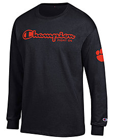 Champion Men's Clemson Tigers Co-Branded Long Sleeve T-Shirt