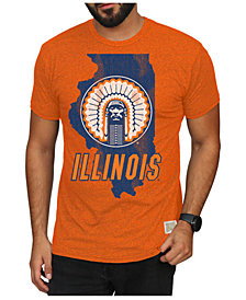 Retro Brand Men's Illinois Fighting Illini Mock Twist Vault Logo T-Shirt