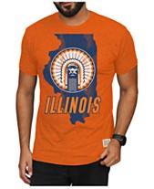 brand new f63a1 5036b Retro Brand Men s Illinois Fighting Illini Mock Twist Vault Logo T-Shirt