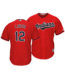 Majestic Men's Francisco Lindor Cleveland Indians Player Replica Cool Base Jersey