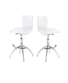 Modern Leatherette Adjustable Bar Stools